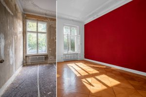 home renovation - old apartment room during restoration